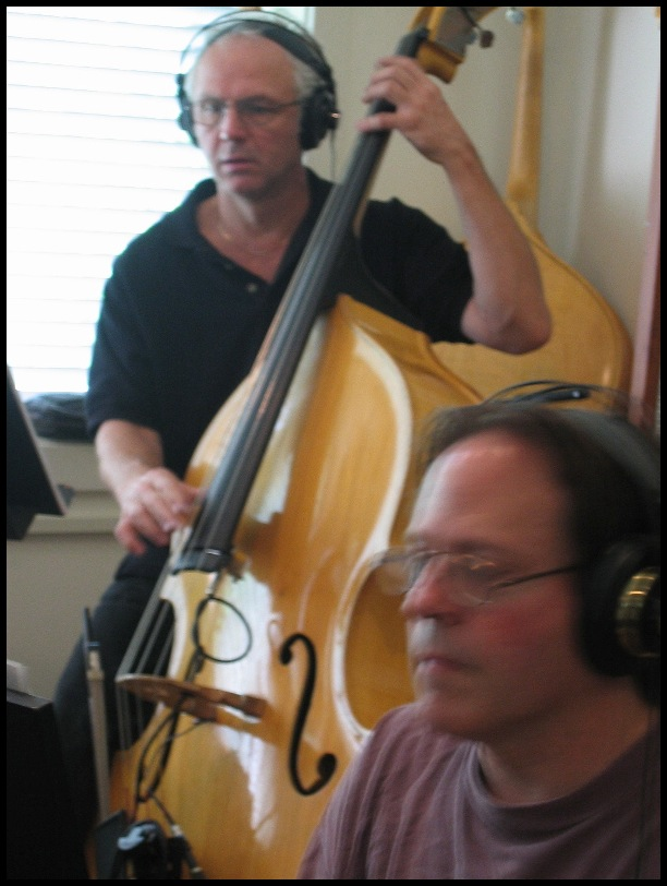 Guy recording with Steven Schoenberg